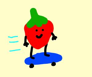 skateboarding strawberry