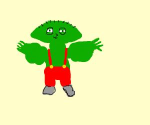 Stewie Griffin gone Hulk.