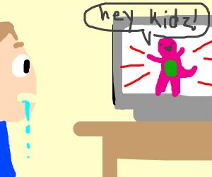Man viewing TV