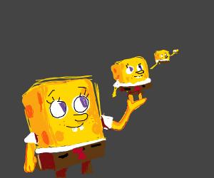 Spongebob holding spongebob holding spongebob