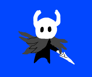 Hollow knight with his nail!