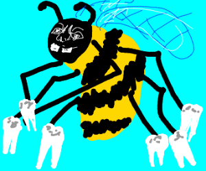 Tooth fairy but it's a bee