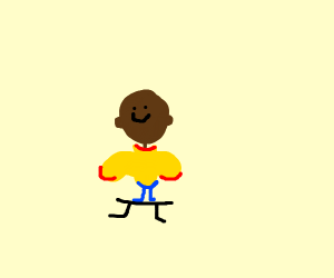 Black Caillou on a bench