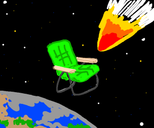 Giant Chair protects Earth from asteroid