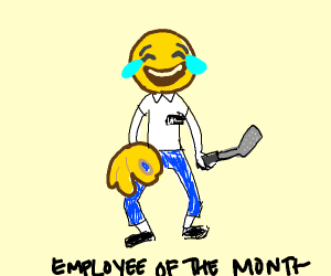 Employee of the month is happy