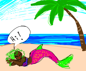 Cute Mermaid on the beach