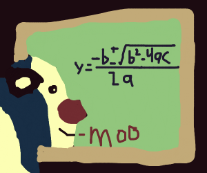 Cow knows quadratic equations