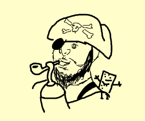 Pirate with a bubble pipe