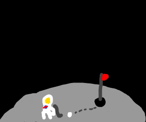 Astronaut plays golf in Space