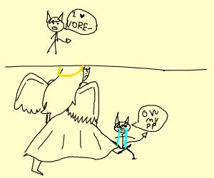 Little demon is into vore