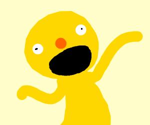totally insane yellow Elmo