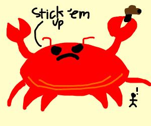 Really big crab with a gun.