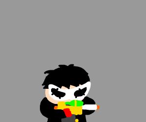 Joker with water gun