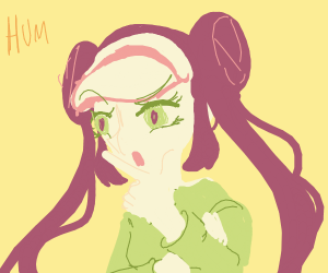 Confused Rosa from Pokemon