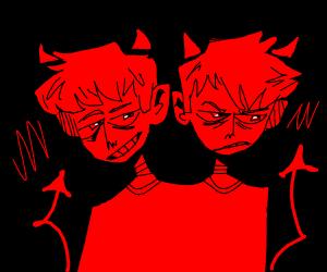 Siamese twin devil