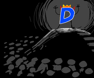 many people bowing to the evil Drawception