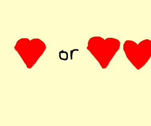 1 or 2 hearts?
