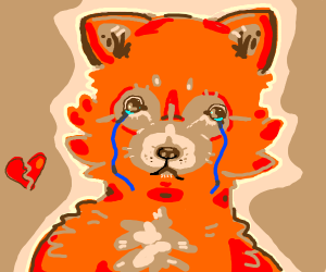 Waa, I am one sad anthropomorphic fox.