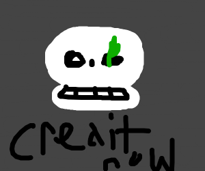 Skeleton with pickle in eye wants credit card