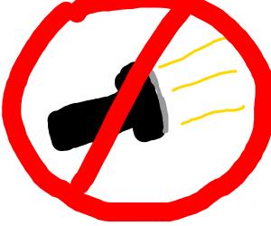 No flashlights allowed