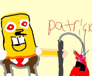 Spongebob is Fishing