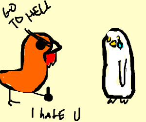 Chicken that hates penguins