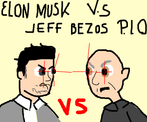 Elon Musk vs Jeff Bezos Pass it on