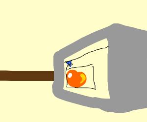 Peach in a Drawception panel