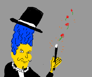 Marge Simpson is a Magician