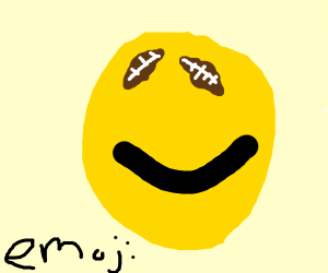 Emoji with football eyes