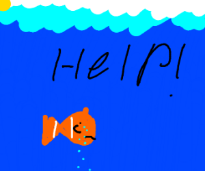 depressed nemo crying for help
