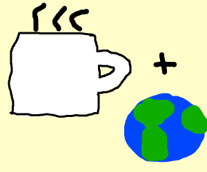 Coffee plus earth