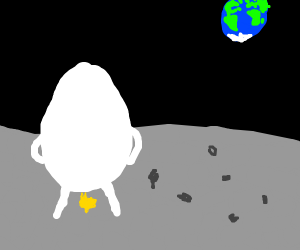 Eggman pisses on the moon