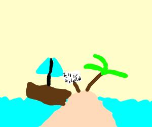 a boat crashing into ellis island
