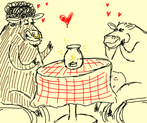 Cows in interracial relationship go on a date