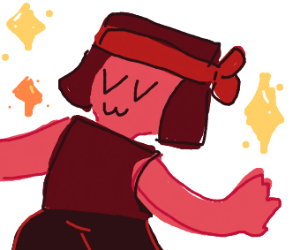 Sparkly Fashionable Ruby (Steven Universe)