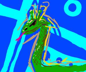 angry giraffe snake