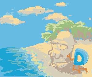 Drawception at the Beach
