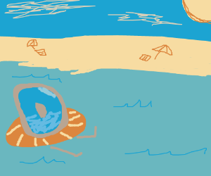 Drawception at the Beach