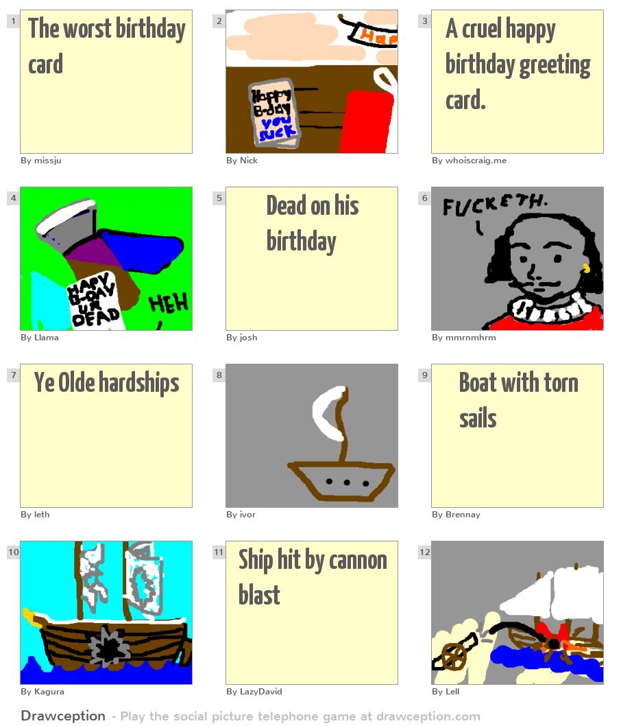 The Worst Birthday Card Drawception