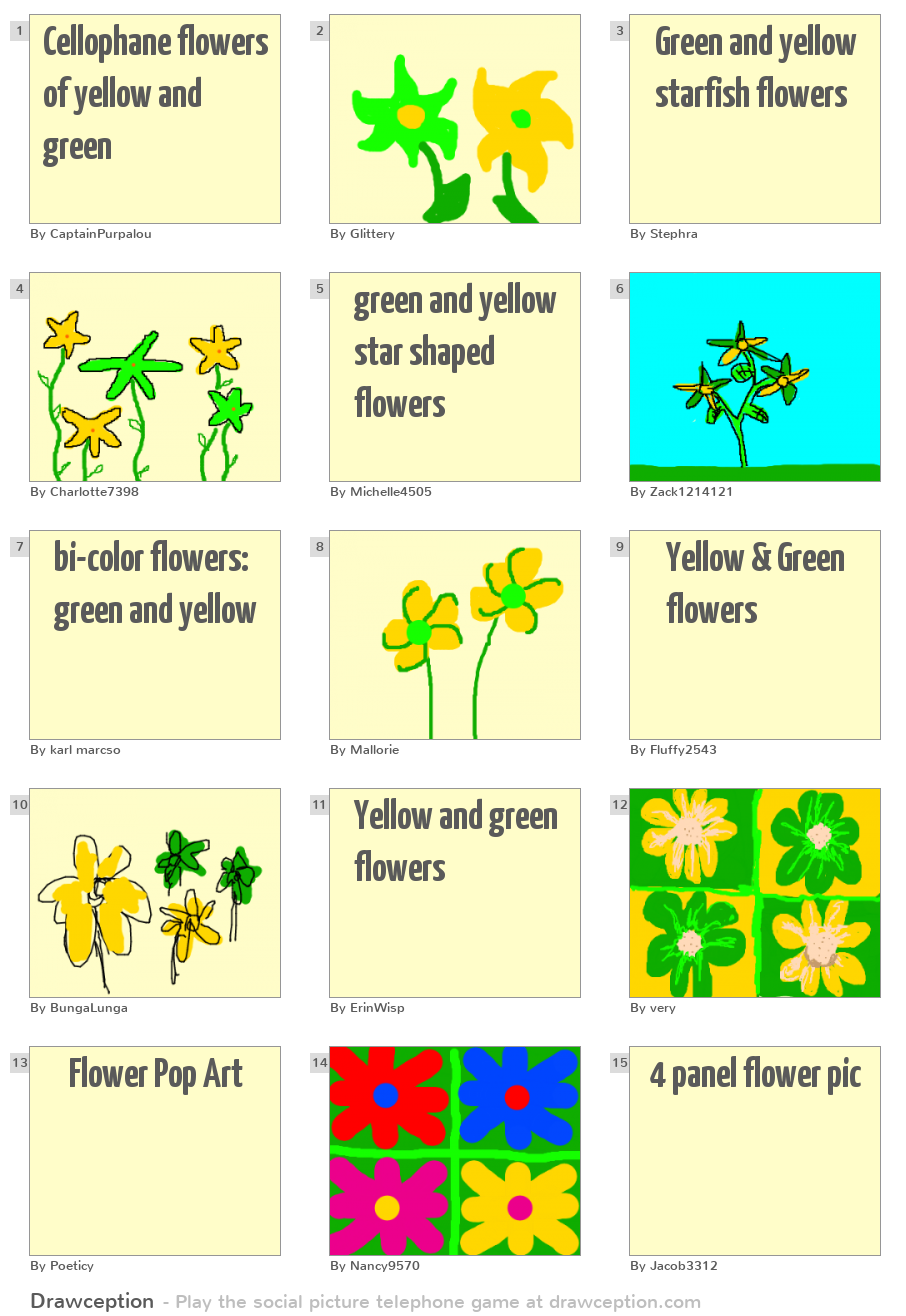 Czeshop images cellophane flowers of yellow and green source cdndrawception report cellophane flowers of yellow and green mightylinksfo