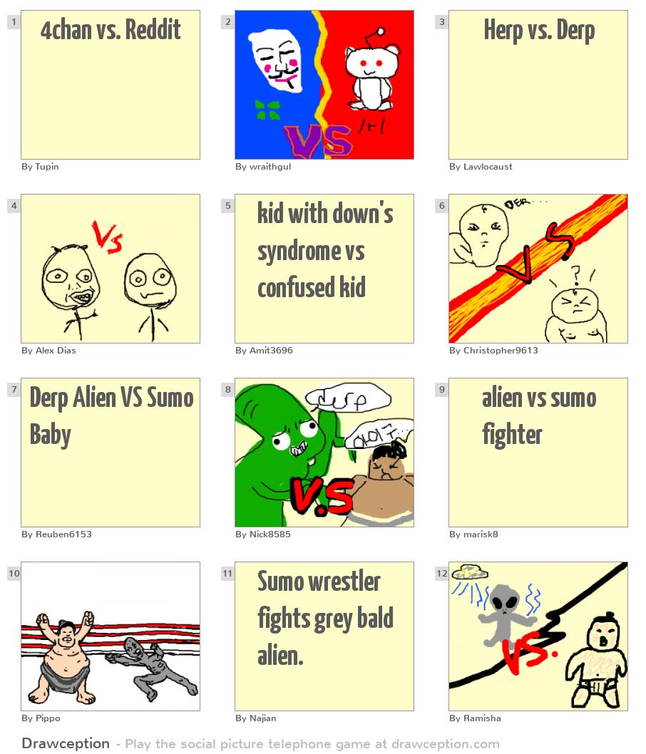 4chan vs  Reddit - Drawception
