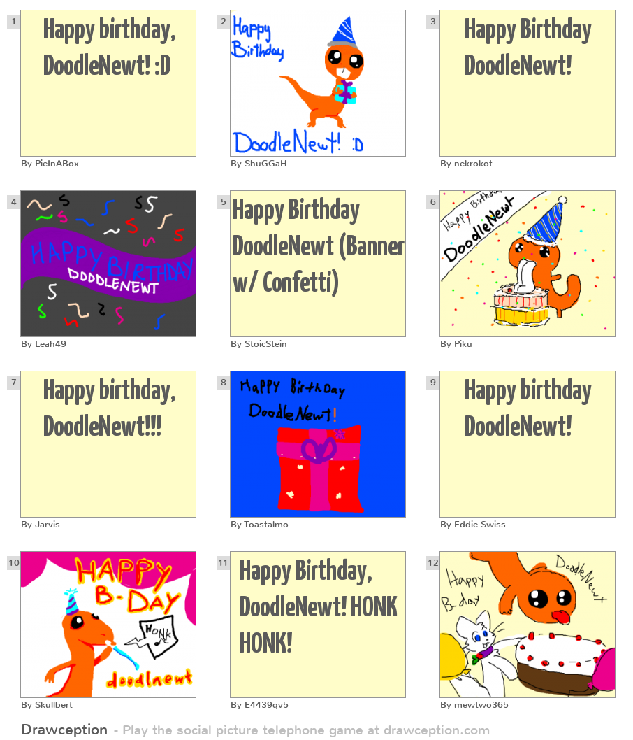 Happy Birthday, DoodleNewt! :D