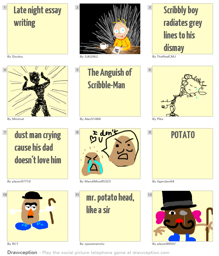 mr potato essay Hot potato a sensitive situation or controversial issue that is difficult to handle and thus gets passed from one person to the next (like a potato that is too hot to hold.