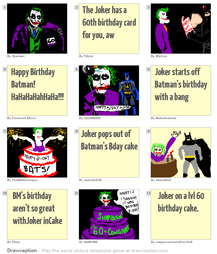 The Joker has a 60th birthday card for you aw
