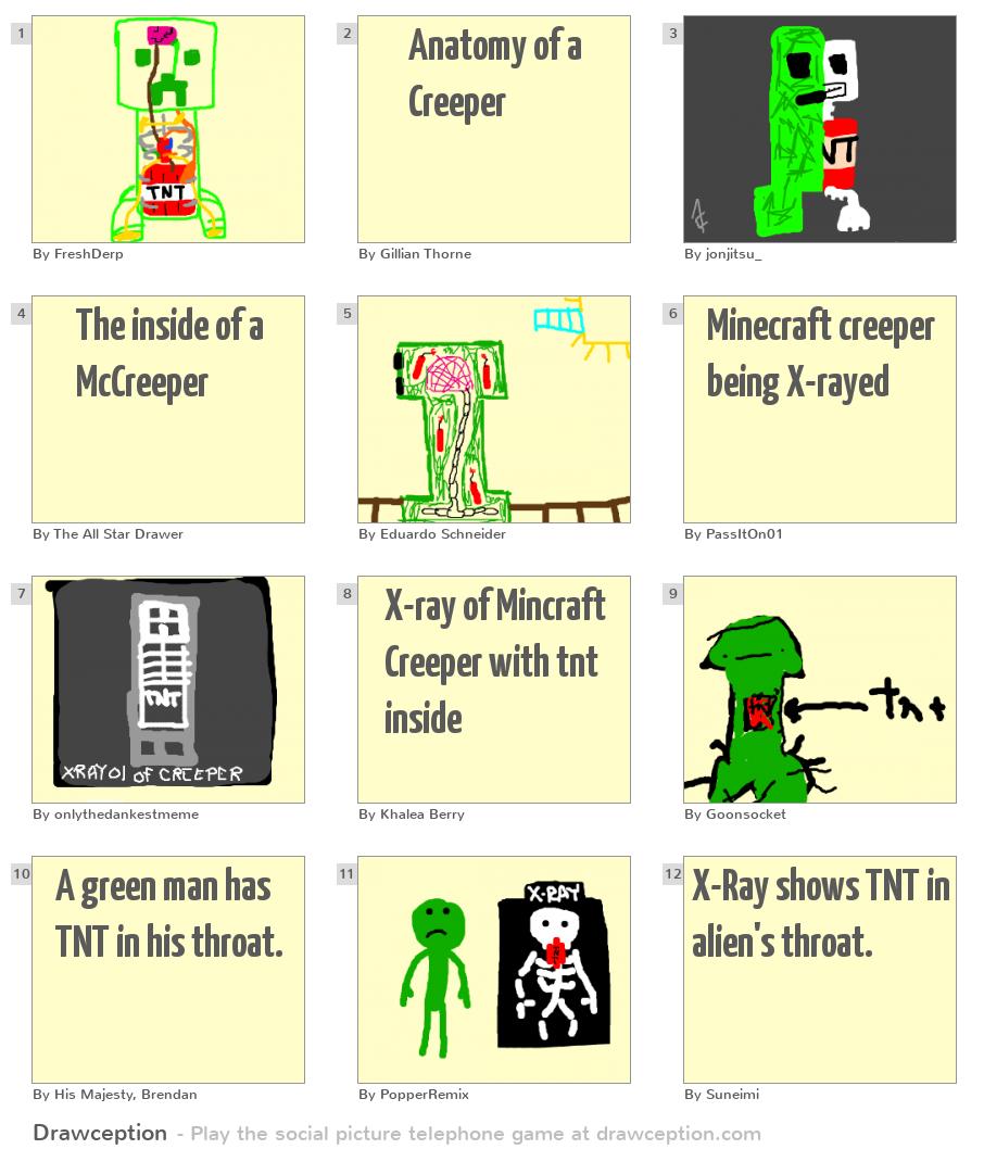 Anatomy of a Creeper - Drawception