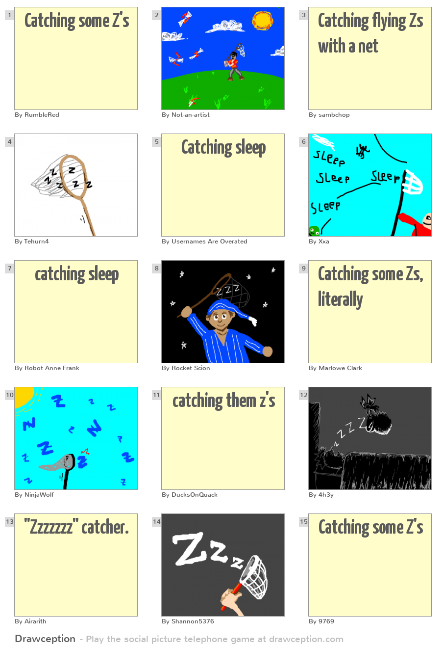 Catching some Z's - Drawception