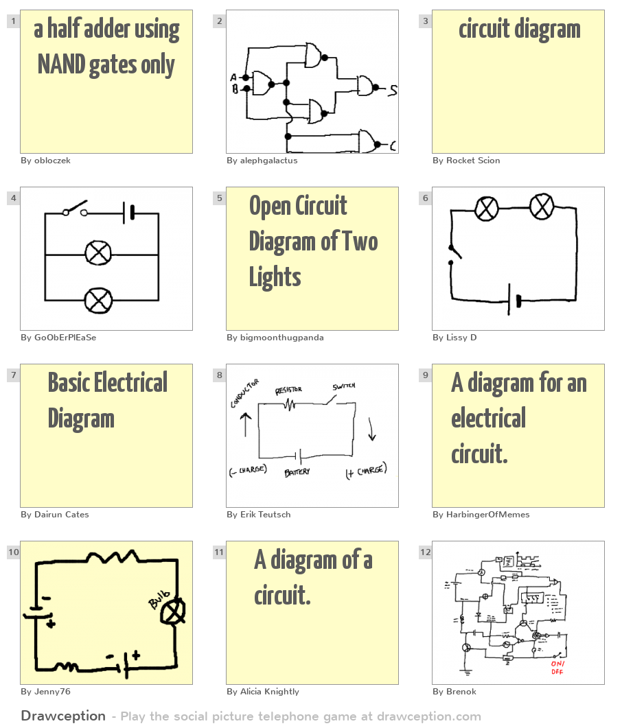 A Half Adder Using Nand Gates Only Drawception Logic Diagram 31