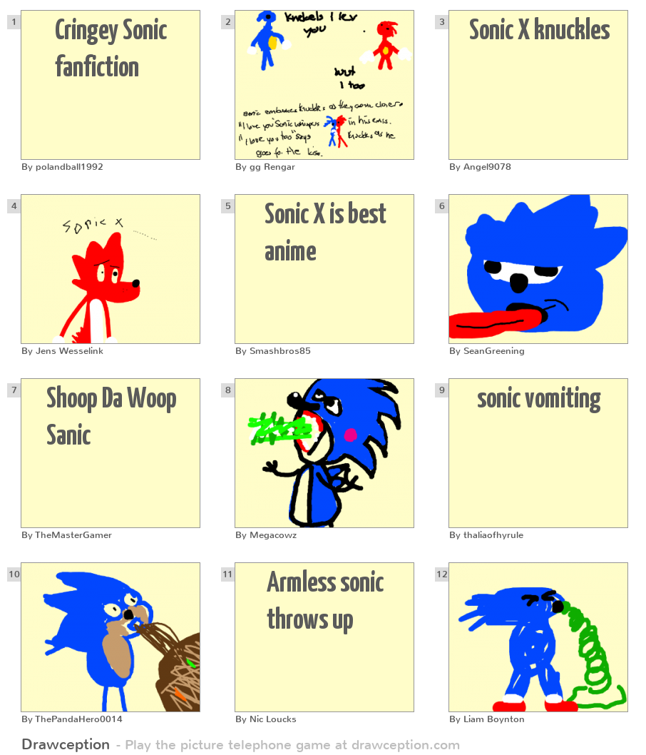 Cringey Sonic fanfiction - Drawception