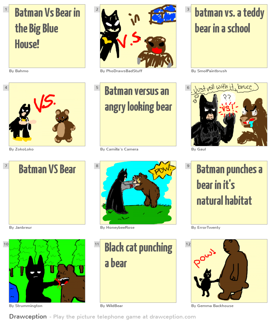 batman vs bear in the big blue house